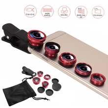 5 in 1 Wide Angle Macro Fisheye Lens Camera Kits Mo