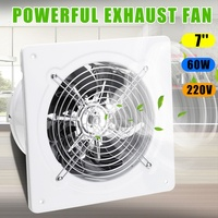 Warmtoo 7inch 60W Duct Booster Fan Exhaust Blower Air Cleaning Cooling Vent Metal Blade Ceiling Wall Window Bathroom Kitchen Fan