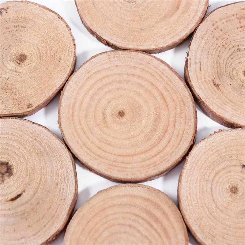 20 шт 5-6 см Круглый Круг НЕОБРАБОТАННАЯ натуральная древесина ломтики дерево коры деревянные срезы для реквизиты для свадебной фотографии Рождество Ornanments