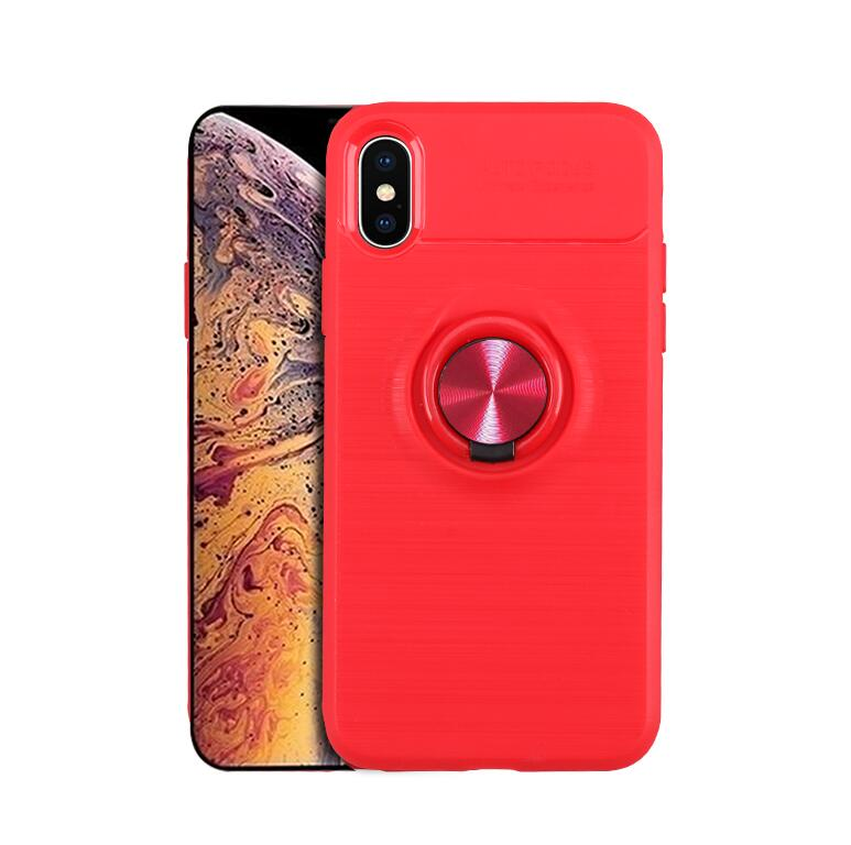finger ring holder silicone case for Iphone xs max cases car holder magnetic socket tpu back cover etui kryt tok husa in Flip Cases from Cellphones Telecommunications