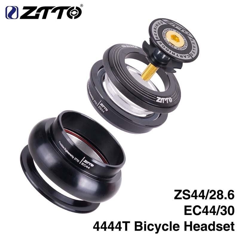 """MTB Da Bicicleta Da bicicleta Headset ZTTO Estrada 44mm ZS44 CNC 1 1/8 """"-1 1/2"""" 1.5 Tubo Cônico garfo EC44 fone de Ouvido Sem Rosca Interna"""