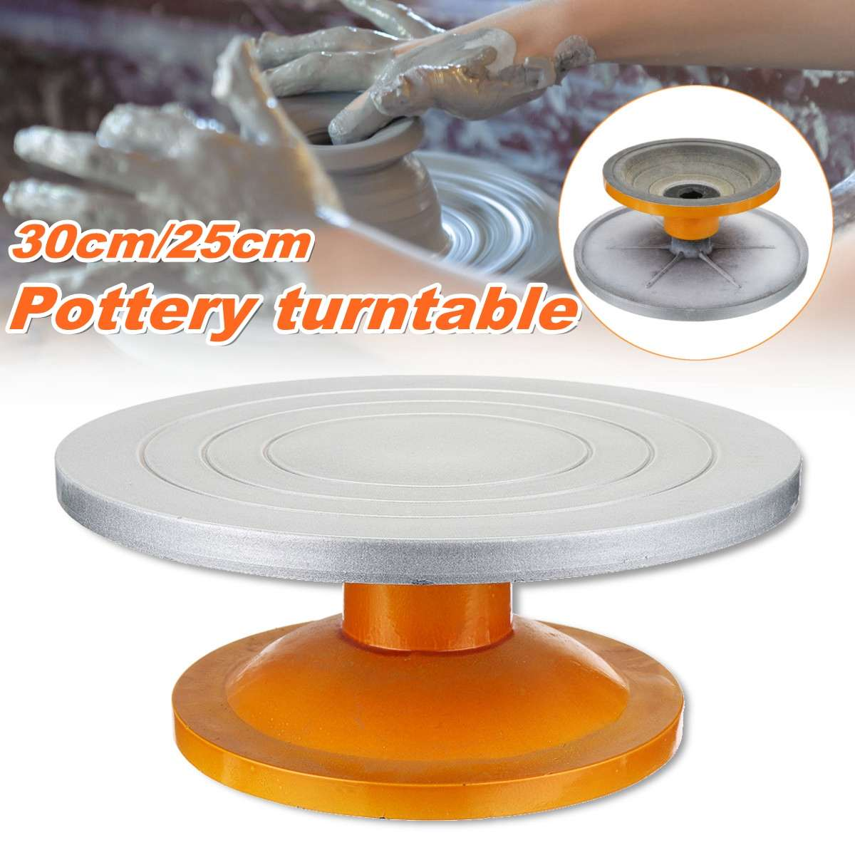 25/30CM Metal Pottery Banding Wheel Turntable Turnplate Clay Sculpture Modelling25/30CM Metal Pottery Banding Wheel Turntable Turnplate Clay Sculpture Modelling