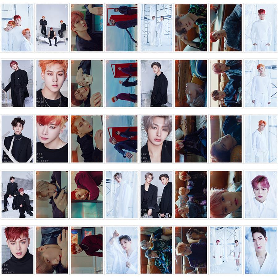 US $8 99 |Kpop Monsta X Are You There HD Photocard Polaroid Lomo Photo Card  Cards with Metal Box 40pcs/set-in Jewelry Findings & Components from