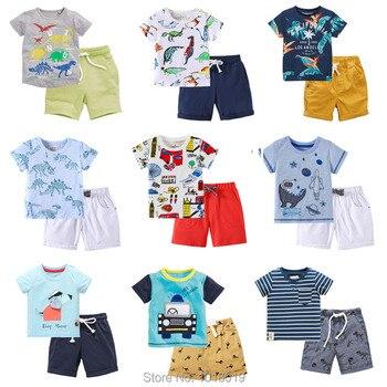 66da608eb 2019 nueva marca 100% algodón de verano de bebé niños ropa conjunto de 2  piezas traje de la ropa de los niños bebé niños ropa de manga corta conjunto  bebé ...