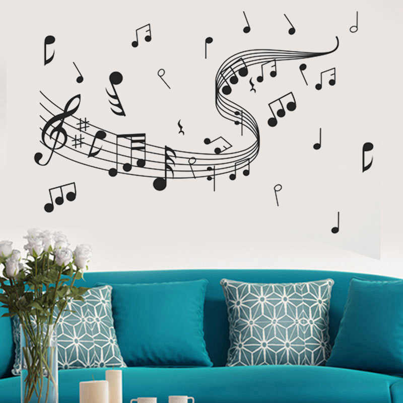 105cm Fashion Removable Music Notes Band Room Home Wall Stickers Decals Vinyl DIY Decor Art