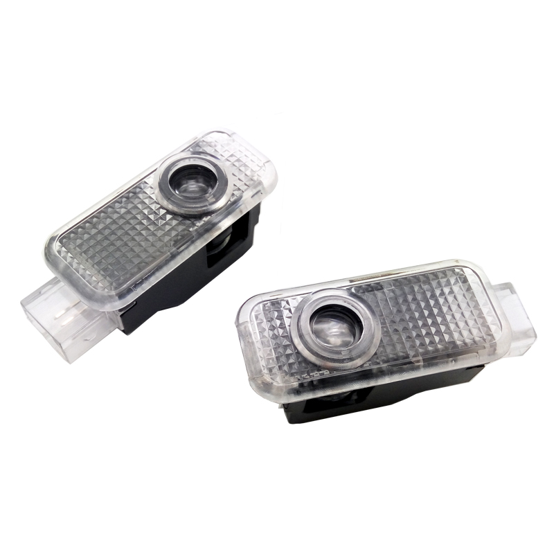 2pcs Car LED Door Logo Light For Audi A3 A4 B8 B6 A5 B7 A3 A6 C5 A6 C6 Q7 Q5 Q3 A1 A7 R8 TT TTS SLine Ghost Shadow Welcome Lamp
