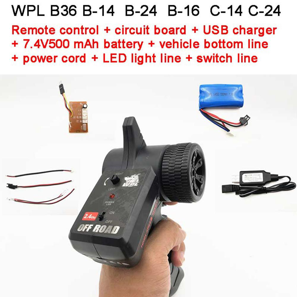 WPL 2.4G Transmitter Remote Control For C14 C24 B16 B36 KIT Car Version Battery Charger 1/16 RC Crawler Car Part Accessories Pakistan