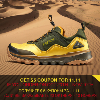 RAX Hiking Shoes Men Breathable Outdoor Sports Sneakers for Men Trekking Shoes Lightweight Mountain Jogging Outdoor Tourism Shoe