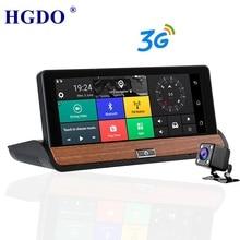 HGDO Dash Camera DVR 7 Android Vehicle GPS Navigation 1080P 3G Wi-Fi FM Transmitter G-Sensor Quad Core 1GB RAM 16GB RO планшетный пк ginzzu gt 7115 silver 7 lte 1280 800 ips 1gb 16gb 1 3 ghz quad 2sim wi fi lte bt wifi 5000mah android 7 0