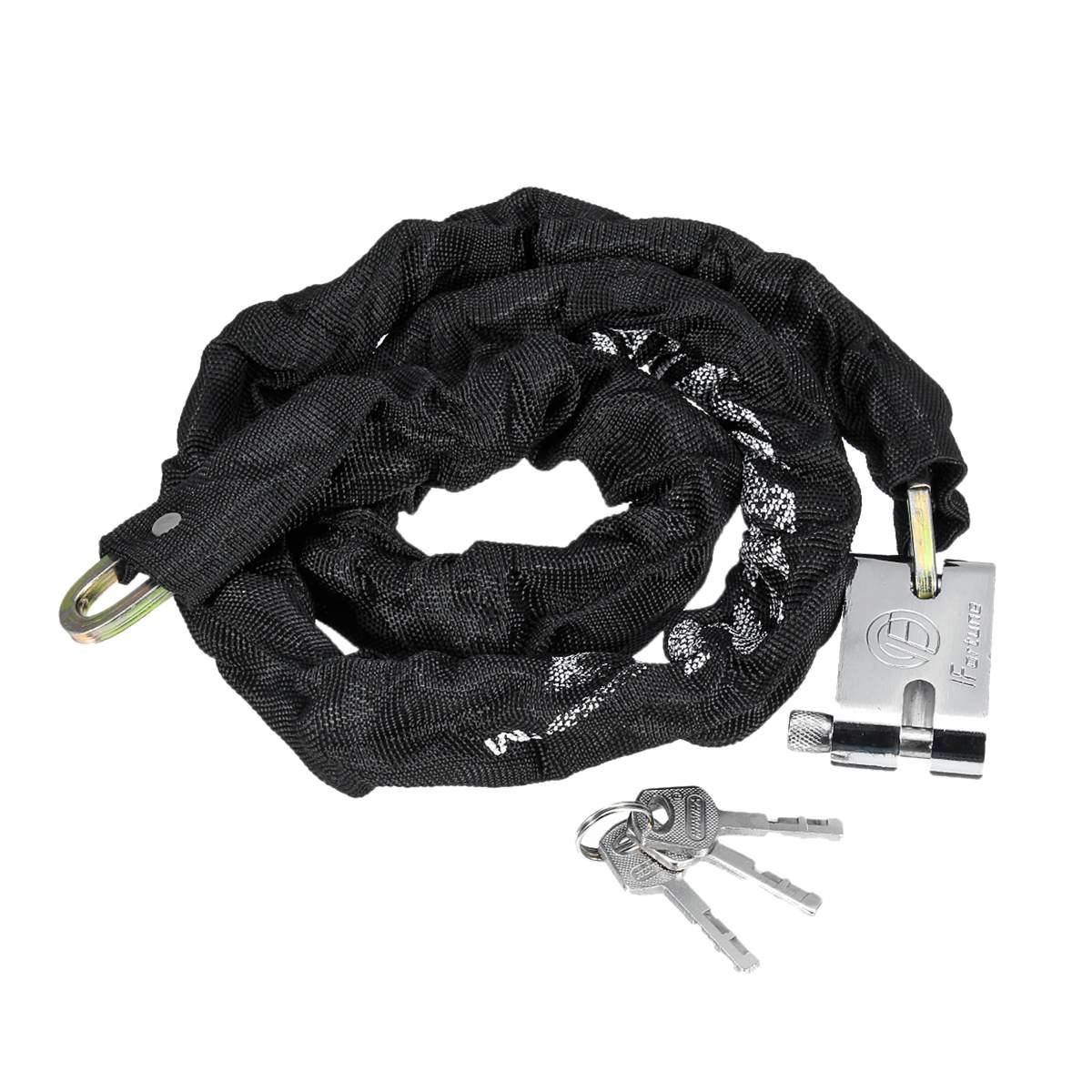 65cm/1.8m Motorcycle Chain Lock Pad Motorbike Bicycle Lock Security Anti-Theft Outdoor Reinforced Locks