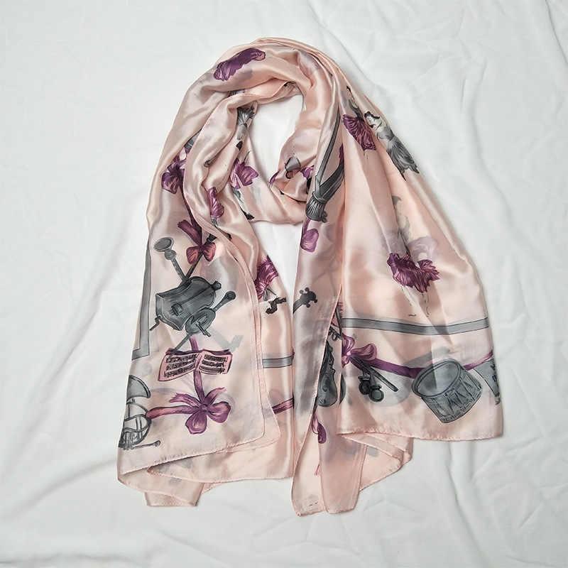 Фото Модная летняя шаль с принтом хиджаб шарф для женщин на голову Женский 180 см * 90