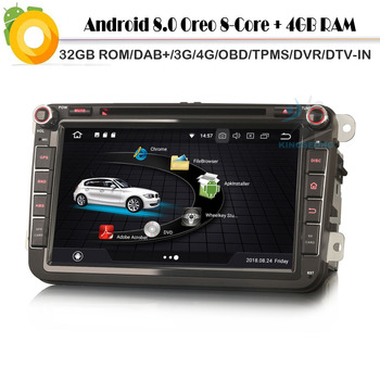 DAB+ Octa Core Android 8.0 Autoradio Car stereo Multimedia Player for SEAT Leon Alhambra Altea Toledo WiFi 4G GPS Radio Sat Nav image
