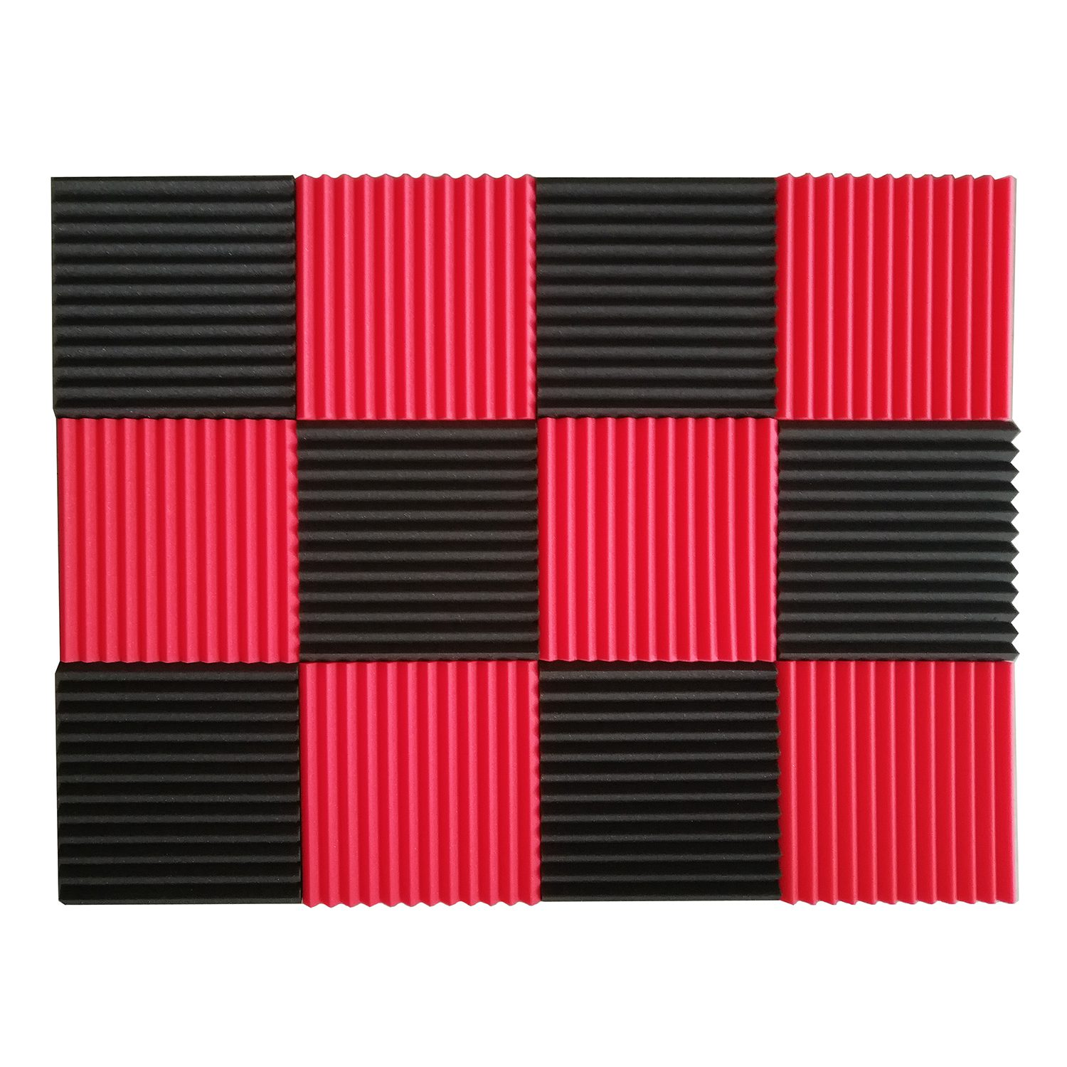 WSFS Hot 12 Pcs Acoustic Panels Soundproofing Foam Acoustic Tiles Studio Foam Sound Wedges 1inch X 12 Inch X 12 Inch