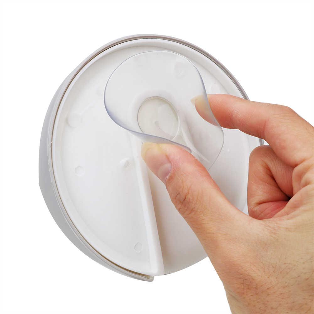 Kreatywny przyssawka spustowy mydło Box uchwyt z tworzywa sztucznego mydelniczka przypadku stojak do przechowywania silne frajerem łazienka akcesoria