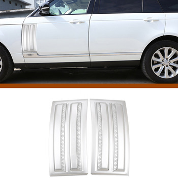 2 Pcs ABS Chrome Car Side Door Air Vents Kit Trim Accessories For Land Rover Range Rover Vogue SVO 2014-2018 image