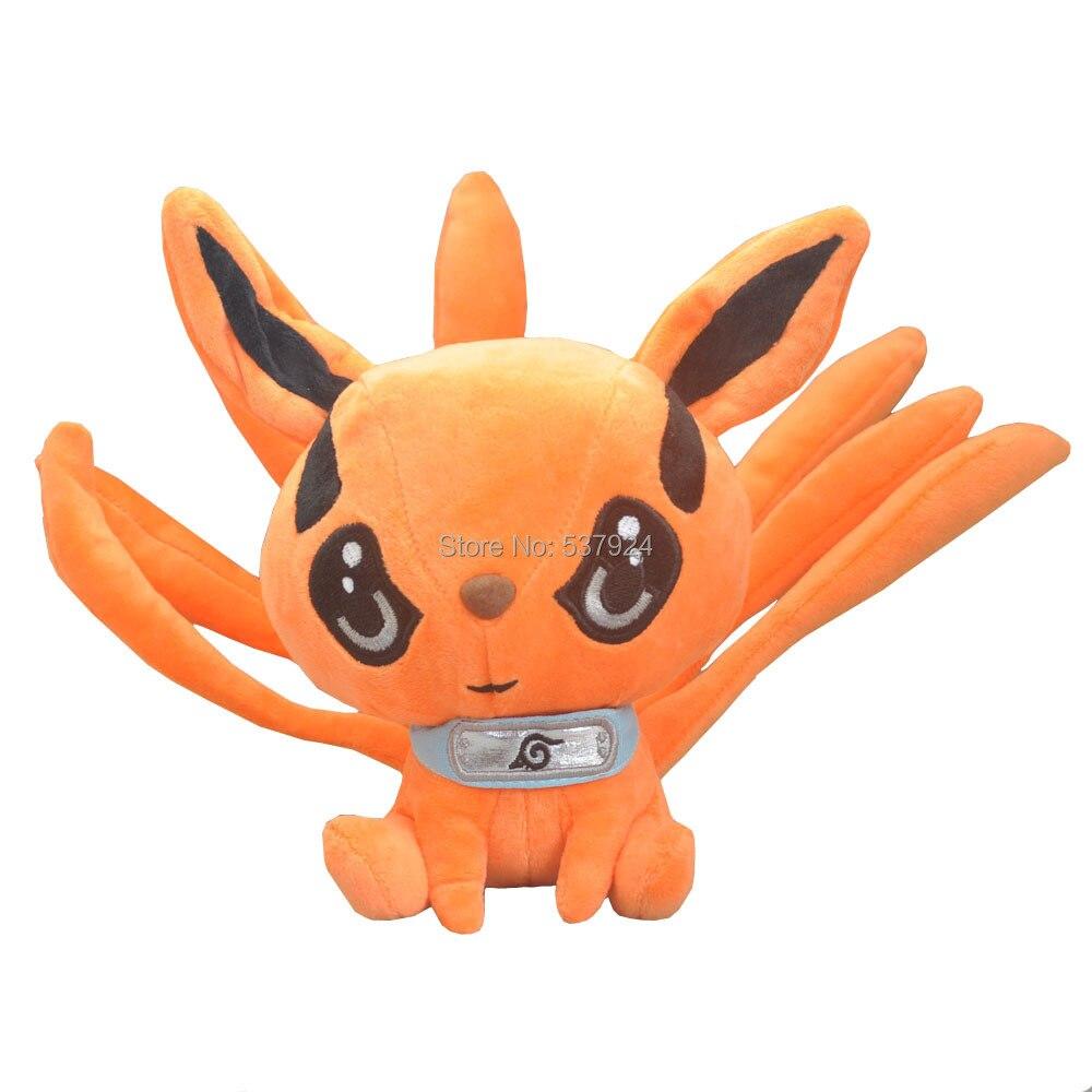 New 10Pcs Naruto Uzumaki Kyuubi Kurama Nine tales Fox Demon 9 23CM Plush Doll