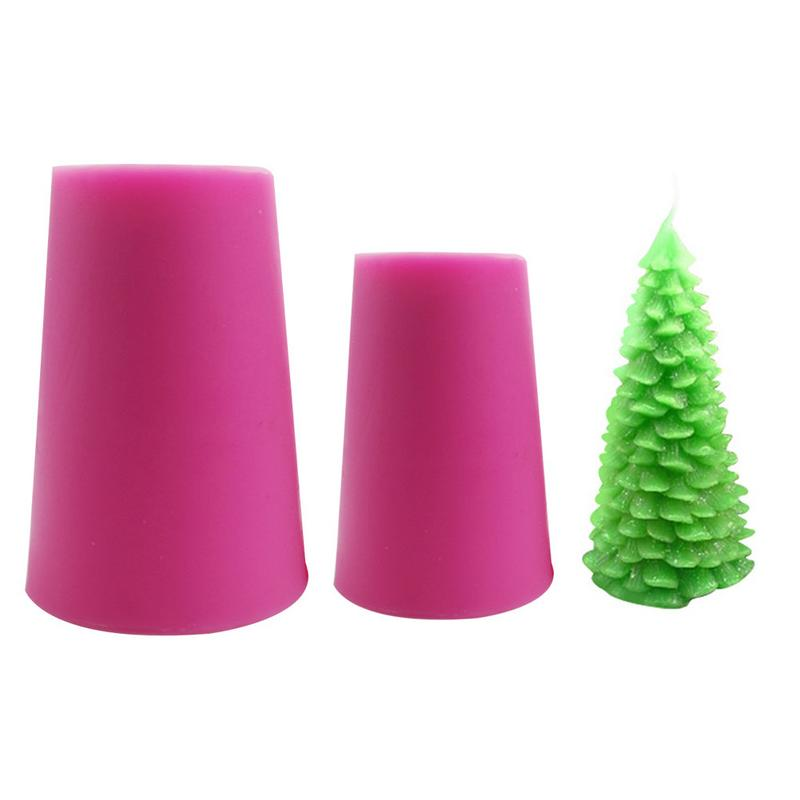 Silicone Mold 3D Christmas Tree Santa Claus Candle Mould For DIY Candle Soap Christmas Gift Making Cake Decorating Baking Tool