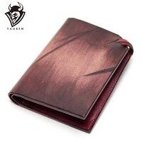 Sınırlı sayıda tam deri cüzdan orijinal tasarım Dip boya hakiki deri cüzdan kart tutucu çanta
