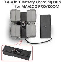 Для DJI Mavic 2 Pro Zoom 4 в 1 портативный Дрон зарядное устройство конвертер зарядное устройство для аккумулятора зарядное устройство Smart charger цифровой светодиодный экран