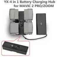 FÜR DJI Mavic 2 Pro Zoom 4 in 1 Tragbare Drone Batterie Ladegerät Konverter Batterie Lade Hub Smart Ladegerät digit led-bildschirm
