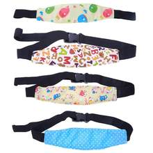 New Safety Baby Kid Car Seat Sleep Nap Aid Head Band Adjustable Buckle Support Holder Belt Cotton&Elastic Band EASE Convenient(China)