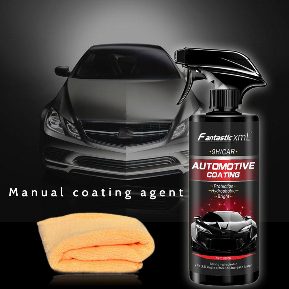 500ML Automotive Nano Coating Liquid Manual Quick Coat Polish Car Coating Agent Maintenance Tool