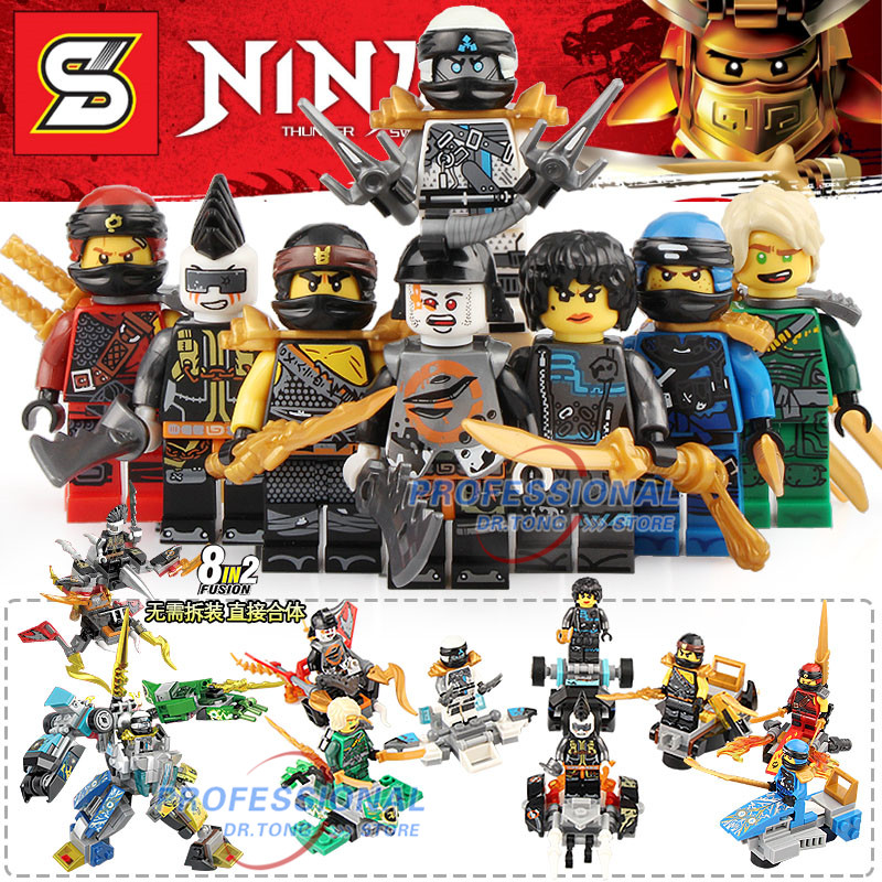 80pcs/lot Super Heroes Ninja Figures Kai Jay Cole Zane Lloyd Action Set Models 8 in 1 Building Blocks Bricks Toys Gifts SY110180pcs/lot Super Heroes Ninja Figures Kai Jay Cole Zane Lloyd Action Set Models 8 in 1 Building Blocks Bricks Toys Gifts SY1101