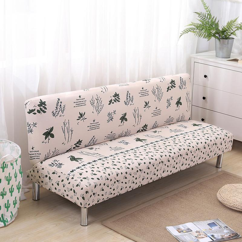 All-inclusive Folding Stretch Sofa Bed Cover Couch Protector Slipcover Without Armrests Elastic Seat Protector For Living Room