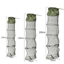 5 Layers Fishing Net Cage Utility Folding Portable Stake Small Mesh Durable Rust And Corrosion Resistant