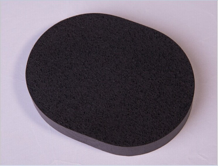 Rectangle 100% Natural Charcoal Body Sponge Facial Wash Cleaning Puff Cleansing Wash Flutter / Cleansing Flutter 110*80*15mm