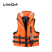 цена Lixada Professional Polyester Adult Safety Life Jacket Survival Vest Swimming Boating Drifting with Emergency Whistle 2019