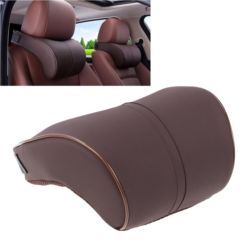 Comfortable Soft Car Neck Cushion Memory Foam Neck Support Pillow Car Headrest Pad Auto Headrest