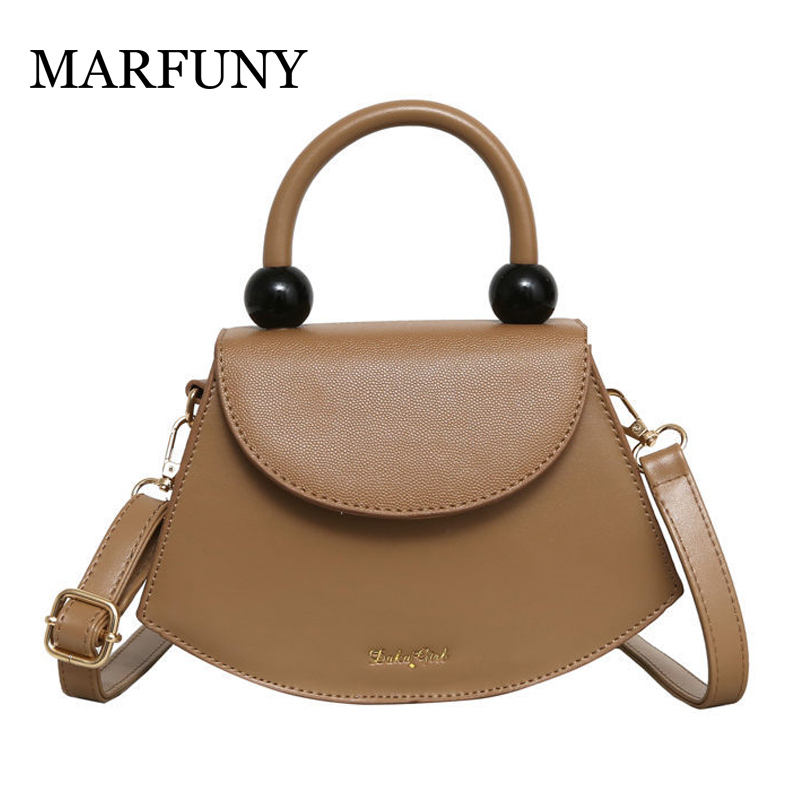 Top-Handle Simple Designer Shoulder Handbags Soft Leather Square Women Crossbody Bags Shoulder Strap Sling Bags 2019 Small Totes