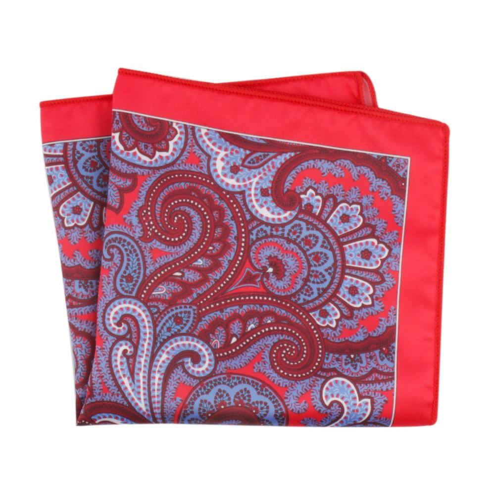 Men's Suit Bag Towel Printing Floral Polyester Silk Printing Pocket Square Scarf Men's Fashion Classic Handkerchief Spot