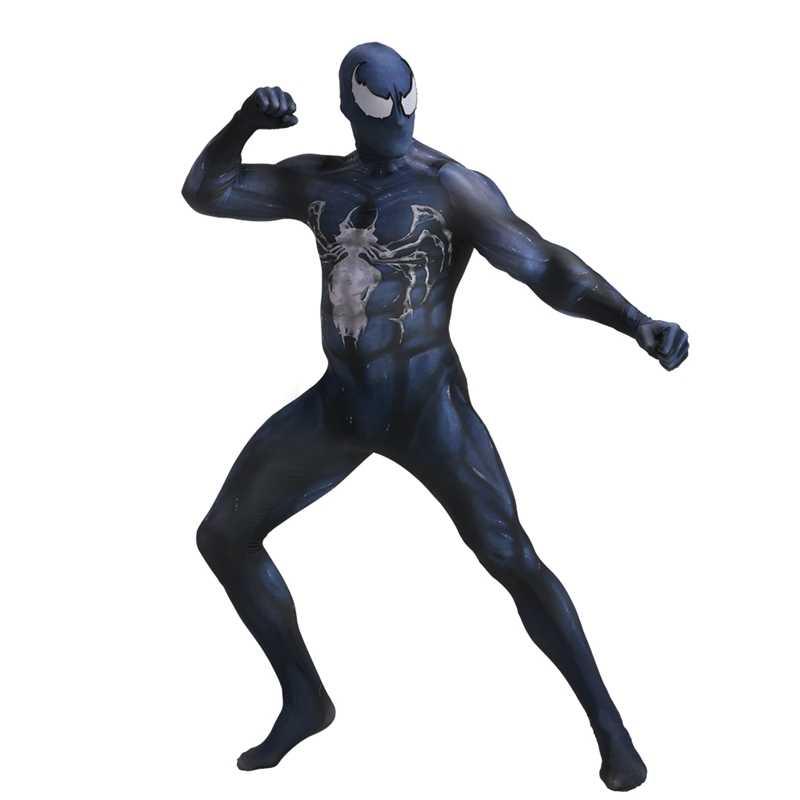 Siêu Anh Hùng Marvel Nọc Độc Symbiote Người Nhện Zentai Da Chắc Chắn Phù Hợp Với Jumpsuit Halloween Trang Phục Hóa Trang