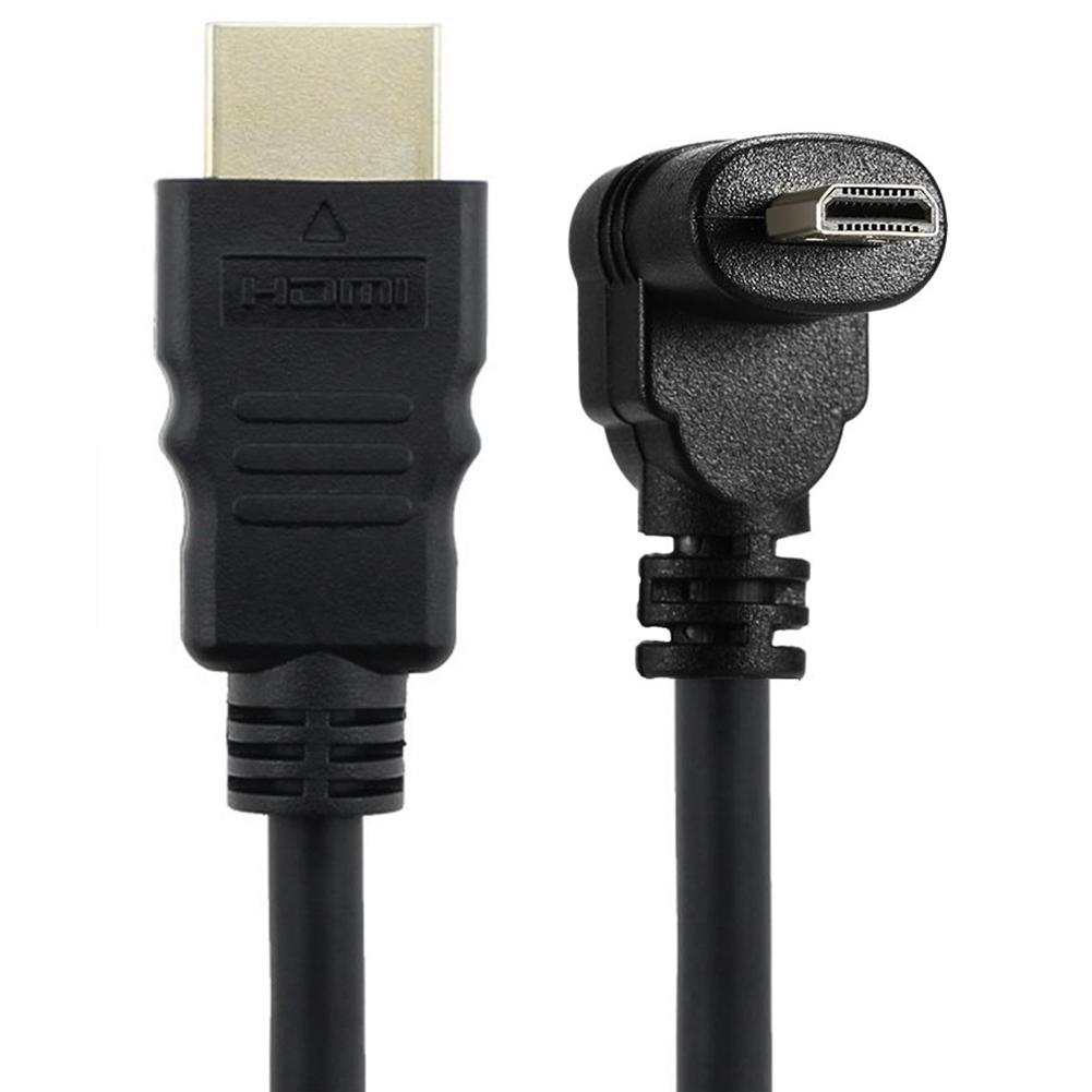 <font><b>50cm</b></font> Micro-<font><b>HDMI</b></font> Right Angle Male to <font><b>HDMI</b></font> Male (90 Degrees) - Supports 4k image