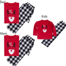Family Christmas Pajamas Set Warm Adult Kids Girls Boy Mommy Sleepwear Nightwear Mother Daughter Clothes Matching Family Outfits(China)