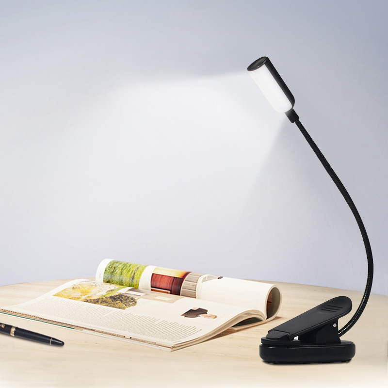 USB Rechargeable LED Book Light Flexible Book Lamp Bendable Clip On Table Desk Study Reading Light For Laptop PC Computer