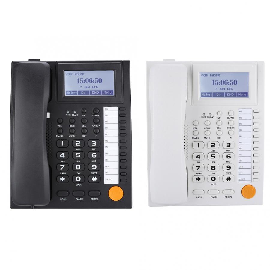 Corded Phone KX 883CID Dual port Extension Set Corded Phone with Speakerphone with Clear Phone with