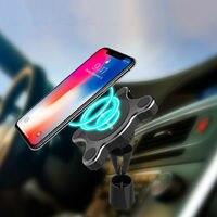Carregador de carro sem fio magnético telefone titular qi carga rápida almofada para samsung iphone tablet stands