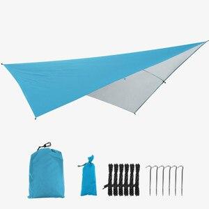 Image 5 - Outdoor Portable Hammock Tents Waterproof Beach Picnic Pad Summer Sunshade 290*290cm Large Light Awning Hamak For 2 3 People