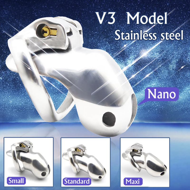 316 Stainless Steel Penis Chastity Cage Device Holy Trainer V3 For Men,Penis Jewelly Anillo Vibrador Para Pene Cock Ring