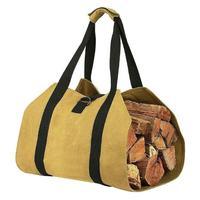 Saco Portátil Ao Ar Livre Da Lona Saco De Armazenamento Da Lona Jogo Fogo de lenha de Madeira Log Carrier Tote Carry Bag Pacote Lida Com Saco de Acampamento|Bolsas de piquenique| |  -
