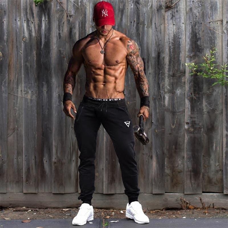 New Design Men Sweatpants Casual Sportwear Jogger Pants Spring Autumn  Men Fitness Workout Bodybuilding Gyms Sportswear