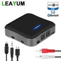 Aptx HD Bluetooth 5.0 Audio Transmitter Receiver CSR8675 Adapter Optical Toslink/3.5mm AUX/SPDIF for Car TV Headphones Laptop PC