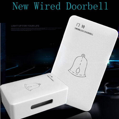 1PCS AC 220V Wired Doorbell Wire Access Wired Doorbell Ding-dong Ringtones Bell Hot Doorbell