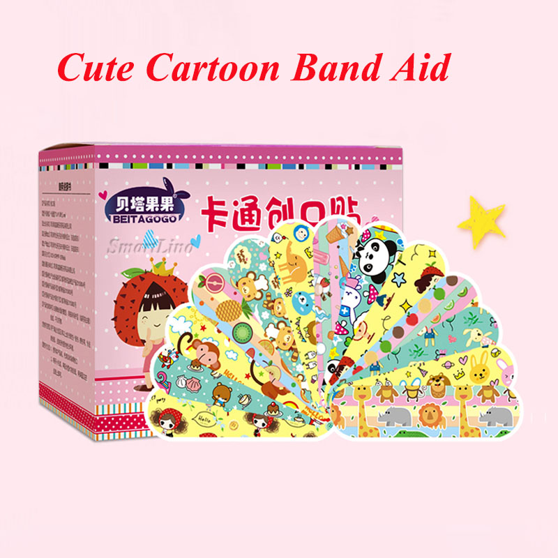 Wound Plaster Band Aid Emergency-Kits Waterproof Kids Cartoon Breathe For 10pcs/Lot Freely