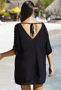 Ladies Summer Blouse Tops Big Plus Size Womens Blouse Beachwear Bikini Beach Wear Cover Up Casual Kaftan 5