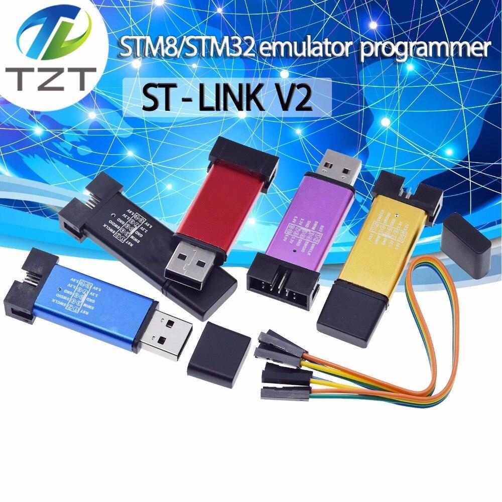 St Link Stlink St Link V2 Mini Stm8 Stm32 Simulador Download Programador Programação Com Capa Dupont Cabo St Link V2 Circuitos Integrados Aliexpress
