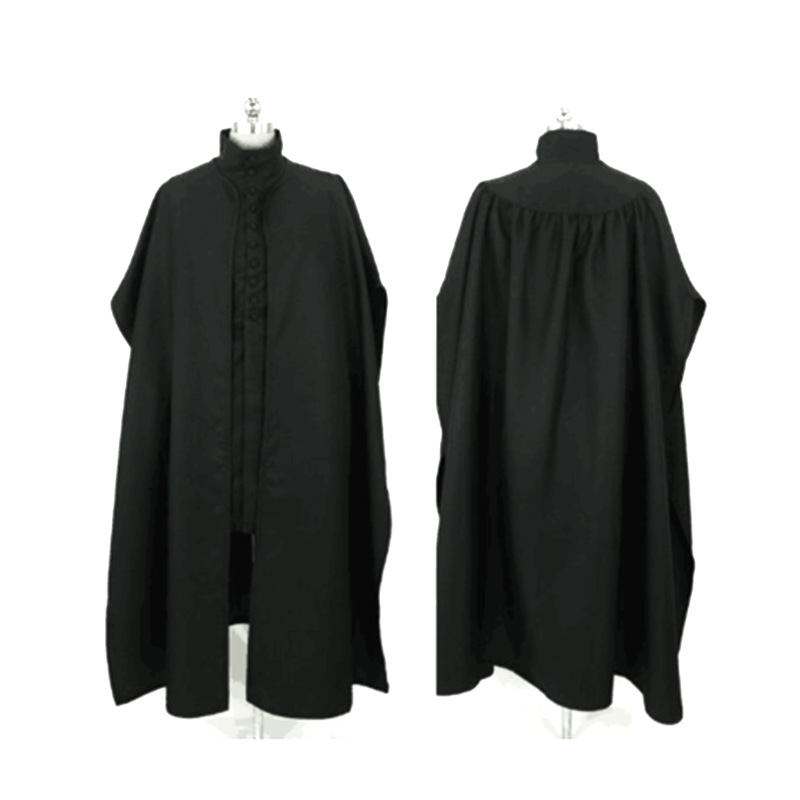 Hogwarts Teacher Severus Snape Cos Set Professor Snape Cosplay Cloak Long Jacket Set Man Medieval Gothic